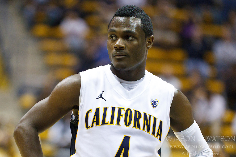 November 16, 2010; Berkeley, CA, USA;  California Golden Bears guard Gary Franklin (4) before shooting a free throw against the Cal State Northridge Matadors during the second half at Haas Pavilion.  California defeated Cal State Northridge 80-63.