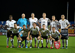 09.10.2015, Gradski Stadion, Podgorica, MNE, UEFA Euro Qualifikation, Montenegro vs Oesterreich, Gruppe G, im Bild Team Österreich // during the UEFA EURO 2016 qualifier group G match between Montenegro and Austria at the Gradski Stadion in Podgorica, Montenegro on 2015/10/09. EXPA Pictures © 2015, PhotoCredit: EXPA/ Risto Bozovic