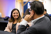 Meris Ota networks at the Silicon Valley Business Journal's Scale Up event at the Computer History Museum in Mountain View, California, on November 13, 2018. (Stan Olszewski for Silicon Valley Business Journal)