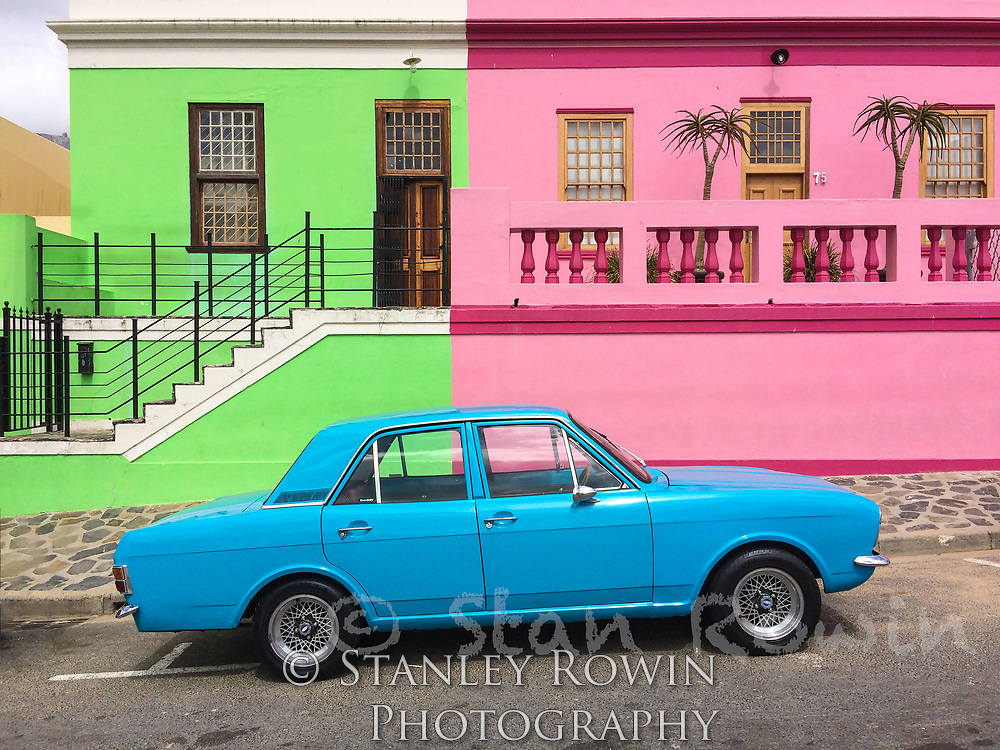 Colorful Building Walls and Car in South Africa