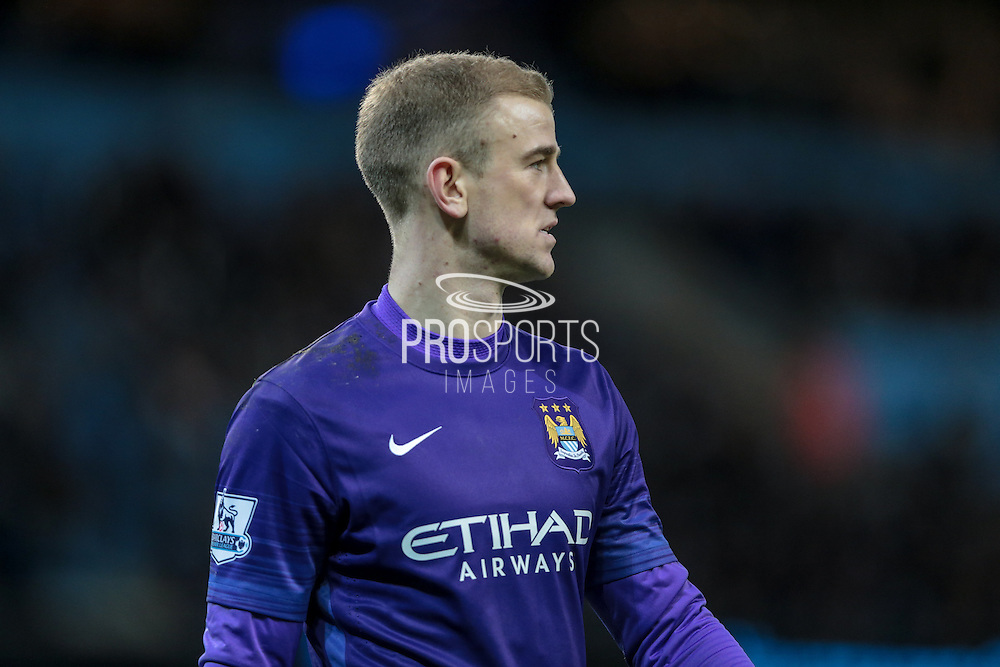 Joe Hart (Manchester City) during the Barclays Premier League match between Manchester City and Tottenham Hotspur at the Etihad Stadium, Manchester, England on 14 February 2016. Photo by Mark P Doherty.