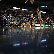 HARTFORD, CONNECTICUT- JANUARY 4:  A general view as Kia Nurse #11 of the Connecticut Huskies scores two points during the UConn Huskies Vs East Carolina Pirates, NCAA Women's Basketball game on January 4th, 2017 at the XL Center, Hartford, Connecticut. (Photo by Tim Clayton/Corbis via Getty Images)