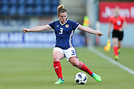 Emma Mitchell (#3) of Scotland in action during the FIFA Women's World Cup UEFA Qualifier match between Scotland Women and Belarus Women at Falkirk Stadium, Falkirk, Scotland on 7 June 2018. Picture by Craig Doyle.