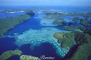 aerial view toward Koror, Palau ( Belau ), Western Caroline Islands, Micronesia ( Western. Pacific Ocean )