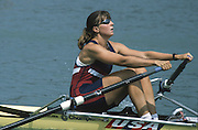 Milan ITALY,  General View of the USA BW1X  Mary OBIDINSKI, 1997 Nations Cup U23  World Rowing Championships. Course, Idra Scala. Province of Milan.<br /> <br /> [Mandatory Credit; Peter Spurrier/Intersport-images] 1997 U23 Nations Cup U23 Championships. Milan Italy