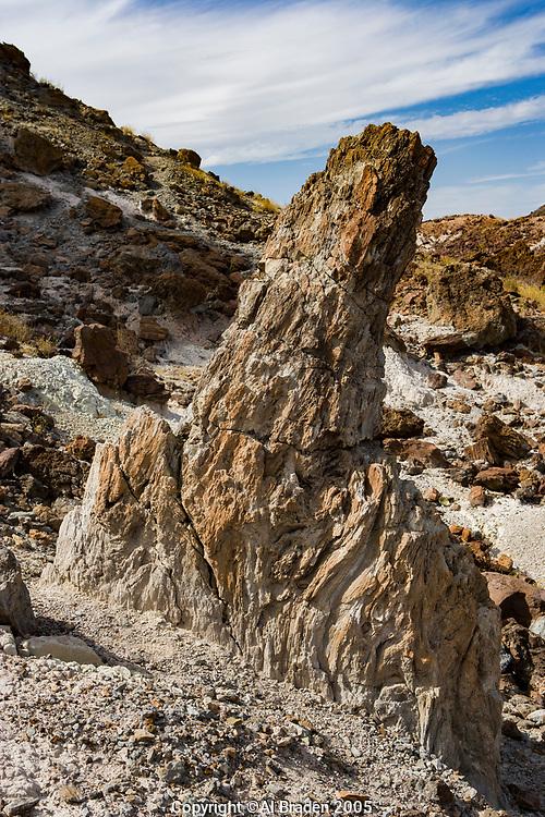 Volcanic Vent, Cerro Castellan, Big Bend National Park along Ross Maxwell Scenic Drive.