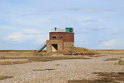 Orford Ness lighthouse Open Day, September 2017, Suffolk, England, UK - old military building
