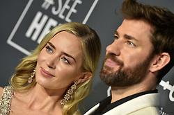 Emily Blunt and John Krasinski attend the 24th annual Critics' Choice Awards at Barker Hangar on January 13, 2019 in Santa Monica, CA, USA. Photo by Lionel Hahn/ABACAPRESS.COM