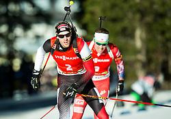 LANDERTINGER Dominik (AUT) competes during Men 12,5 km Pursuit at day 3 of IBU Biathlon World Cup 2014/2015 Pokljuka, on December 20, 2014 in Rudno polje, Pokljuka, Slovenia. Photo by Vid Ponikvar / Sportida