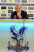Fotball<br /> Foto: imago/Digitalsport<br /> NORWAY ONLY<br /> <br /> 16th September 2017, Selhurst Park, London, England; EPL Premier League football, Crystal Palace versus Southampton; Roy Hodgson manager of Crystal Palace during his post match press conference PK Pressekonferenz