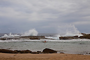 Rough surf at Playa Jobos beach in Isabela Puerto Rico