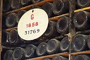 old bottles in the cellar 1858 ferreira port lodge vila nova de gaia porto portugal