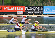 Lucerne, SWITZERLAND. GBR W2-, winners the women's pair, Bow. Helen GLOVER and Heather STANNING.  at the  2012 FISA World Cup II, Lucerne Regatta.  Rotsee  Rowing Course,  Sunday  27/05/2012  [Mandatory Credit Peter Spurrier/ Intersport Images].