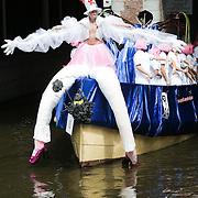 NLD/Amsterdam/20080802 - Canal Parade 2008 Amsterdam, boot SOA poli