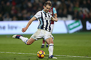 Gareth McAuley of West Bromwich Albion in action. Premier league match, West Ham Utd v West Bromwich Albion at the London Stadium, Queen Elizabeth Olympic Park in London on Saturday 11th February 2017.<br /> pic by John Patrick Fletcher, Andrew Orchard sports photography.