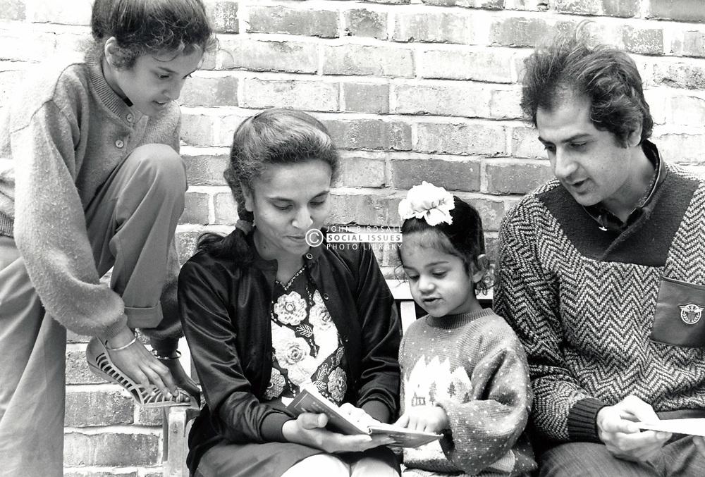 Asian family, Forest Fields, Nottingham UK 1990