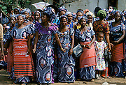 Nigerian locals at tribal gathering cultural event at Port Harcourt in Nigeria, West Africa