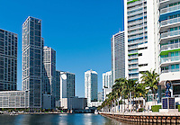 Condominium apartments over the Miami River, Miami. Florida.