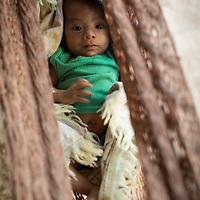 Jesus' baby in a hammock