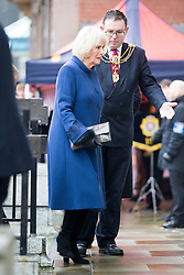 © Licensed to London News Pictures. 08/02/2017. Hull UK. HRH Prince Charles & the Duchess of Cornwall visiting the newly opened Ferens Art Gallery in Hull as part of a Royal tour of the city of culture. Photo credit: Andrew McCaren/LNP