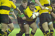 Northampton, Northamptonshire, UK, 08.12.2001, Wasp's sub. hooker ,Trevor Leota,  holds the ball in the maul during the, Northampton Saints vs  London Wasps, Zurich Premiership Rugby, Franklyn Gardens, [Mandatory Credit: Peter Spurrier/Intersport Images]
