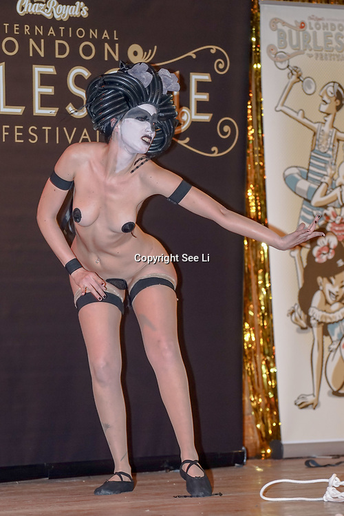 Black Bijou, Italy preforms at the London Burlesque Festival the VIP Opening Gala at Conway Hall on 18th May 2017, UK. by See Li