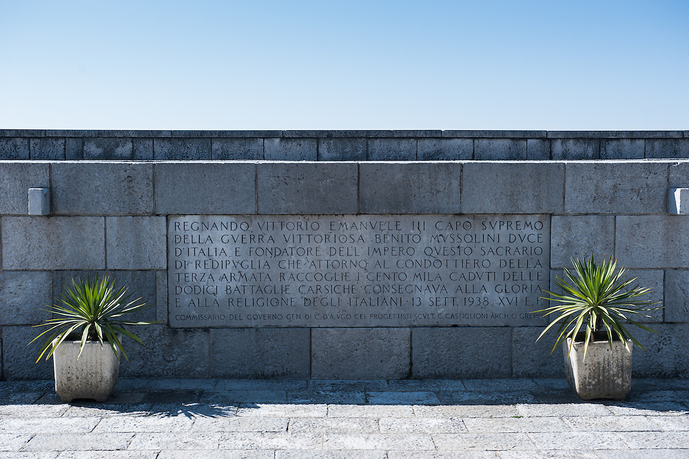 Fogliano Redipuglia, Italy - 9 March 2014: the 1938 war memorial contains the corpses of 39.857 identified Italian soldiers, and 69.330 unidentified soldiers who fought at the eastern end of the shifting front of the Italian Campaign against Austria-Hungary (and Germany) in World War I.