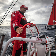Leg 6 to Auckland, day 03 on board MAPFRE, Xabi Fernandez stearing. 09 February, 2018.