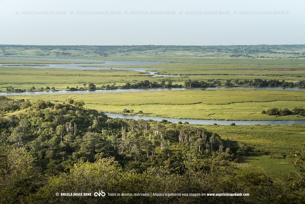Vista geral do Párque Nacional da Kissama (Quiçama). Bengo, Angola