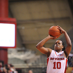 Feb 24, 2009; Piscataway, NJ, USA; Rutgers guard Epiphanny Prince (10) takes a free throw during the second half of Rutgers' 71-52 victory over Cincinnati at the Louis Brown Athletic Center.