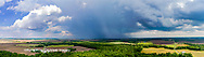 63891-02713 Aerial view of thunderstorm clouds Marion Co. IL