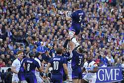 February 23, 2019 - Saint Denis, Seine Saint Denis, France - The Lock of Scotland team JONNY GRAY in action during the Guinness Six Nations Rugby tournament between France and Scotland at the Stade de France - St Denis - France..France won 27-10 (Credit Image: © Pierre Stevenin/ZUMA Wire)