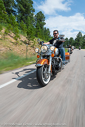 Cycle Source ride down Vanocker Canyon back from Nemo to the Iron Horst Saloon during the Sturgis Black Hills Motorcycle Rally. SD, USA. Wednesday, August 7, 2019. Photography ©2019 Michael Lichter.