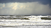 A stormy day at the  coast of The Hague, Netherlands