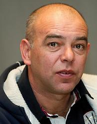 Darko Birjukov, coach of Domzale during press conference of 1st SNL PrvaLiga, on February 29, 2012 in Koper, Slovenia.  (Photo By Vid Ponikvar / Sportida.com)