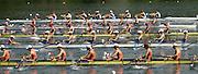 2006, U23 Rowing Championships, Hazewinkel, BELGIUM Friday, 21.07.2006. Top to Bottom,  FRA BM8+,USA BM8+,  ROM BM8+, EST BM1X, NED BM8+,  Photo  Peter Spurrier/Intersport Images email images@intersport-images.com....[Mandatory Credit Peter Spurrier/ Intersport Images] Rowing Course, Bloso, Hazewinkel. BELGUIM