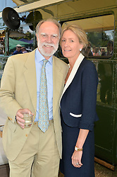 VISCOUNT & VISCOUNTESS COWDRAY at the Jaeger-LeCoultre Gold Cup Polo Final held at Cowdray Park Polo Club, Midhurst, West Sussex on 19th July 2015