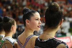 July 28, 2018 - Chieti, Abruzzo, Italy - Rhythmic gymnast Milena Baldassarri of Italy during the Rhythmic Gymnastics pre World Championship Italy-Ukraine-Germany at Palatricalle on 29th of July 2018 in Chieti Italy. (Credit Image: © Franco Romano/NurPhoto via ZUMA Press)