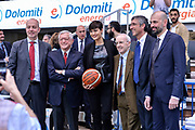 DESCRIZIONE : Trento Beko All Star Game 2016<br /> GIOCATORE : Massimiliano Menetti Valerio Bianchini Alice Sabatini Miss Italia Dan Peterson Fernando Marino Maurizio Buscaglia<br /> CATEGORIA : Fair Play Before Pregame Ritratto Allenatore Coach Presidente<br /> SQUADRA : LegaBasket<br /> EVENTO : Beko All Star Game 2016<br /> GARA : Beko All Star Game 2016<br /> DATA : 10/01/2016<br /> SPORT : Pallacanestro <br /> AUTORE : Agenzia Ciamillo-Castoria/L.Canu