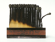a burned up book of matches