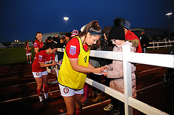 Bristol City Women players sign autographs at the end of the match- Mandatory by-line: Nizaam Jones/JMP - 27/10/2019 - FOOTBALL - Stoke Gifford Stadium - Bristol, England - Bristol City Women v Tottenham Hotspur Women - Barclays FA Women's Super League