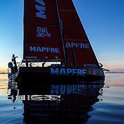 Leg 4, Melbourne to Hong Kong, day 08 on board MAPFRE, Sunset without wind. Photo by Ugo Fonolla/Volvo Ocean Race. 09 January, 2018.
