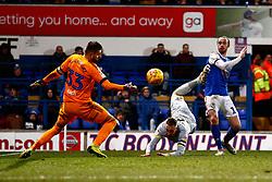 Bartosz Bialkowski of Ipswich Town saves Richard Keogh of Derby County header - Mandatory by-line: Phil Chaplin/JMP - 13/02/2019 - FOOTBALL - Portman Road - Ipswich, England - Ipswich Town v Derby County - Sky Bet Championship
