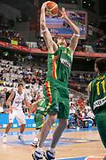 DESCRIZIONE : Madrid Spagna Spain Eurobasket Men 2007 Final 3rd 4th Place Grecia Lituania Greece Lithuania <br /> GIOCATORE : Ksistof Lavrinovic<br /> SQUADRA : Lituania Lithuania <br /> EVENTO : Eurobasket Men 2007 Campionati Europei Uomini 2007 <br /> GARA : Grecia Lituania Greece Lithuania <br /> DATA : 16/09/2007 <br /> CATEGORIA : Rimbalzo <br /> SPORT : Pallacanestro <br /> AUTORE : Ciamillo&Castoria/S.Silvestri <br /> Galleria : Eurobasket Men 2007 <br /> Fotonotizia : Madrid Spagna Spain Eurobasket Men 2007 Final 3rd 4th Place Grecia Lituania Greece Lithuania <br /> Predefinita :