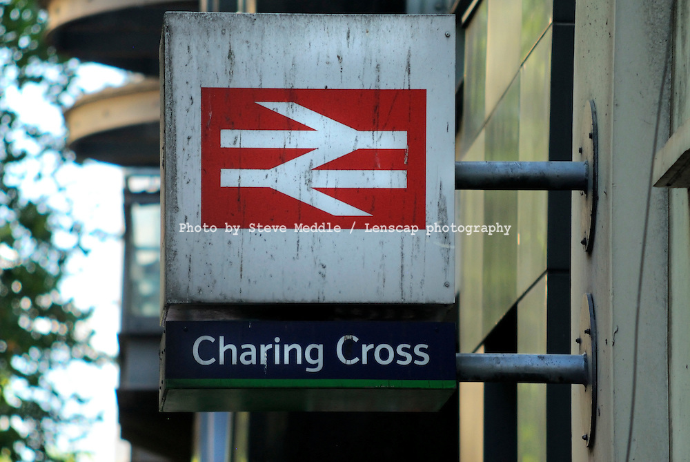 Charing Cross Station Sign, London, Britain - August 2009