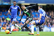 Ibrahim Afellay of Stoke City taking a shot at goal. Barclays Premier league match, Chelsea v Stoke city at Stamford Bridge in London on Saturday 5th March 2016.<br /> pic by John Patrick Fletcher, Andrew Orchard sports photography.