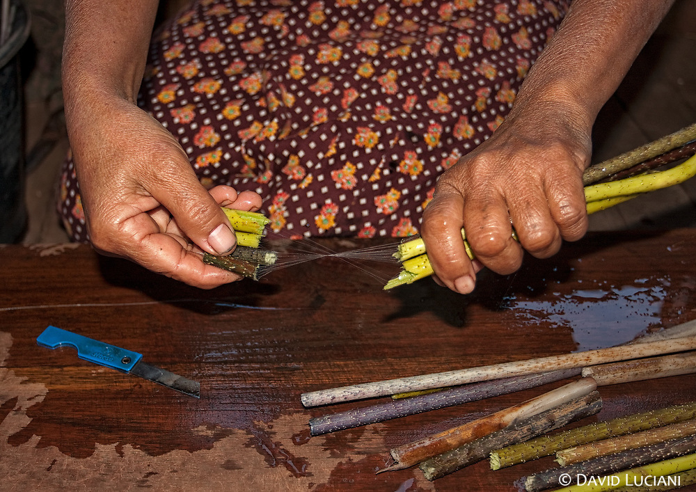 Another naturally product of Burma is the silk obtained by the lotus plant. The fibers are spun later to silk.