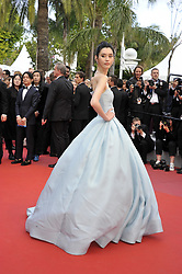 Ming Xi attending the Solo: A Star Wars Story premiere at the 71st Cannes Film Festival.