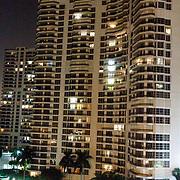 USA/Miami/20150806 - Miami,  nacht overzich over de stad