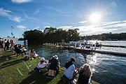 Henley-on-Thames. United Kingdom.  General View, Start Area. 2017 Henley Royal Regatta, Henley Reach, River Thames. <br /> <br /> <br /> 18:56:02  Saturday  01/07/2017   <br /> <br /> [Mandatory Credit. Peter SPURRIER/Intersport Images.